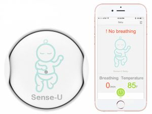Baby breathing movement monitor
